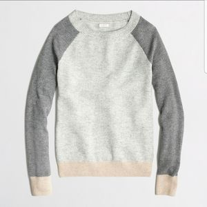 J Crew Factory Warmspun Colorblock Thermal Sweater